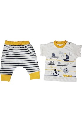 Hippıl Baby Kısa Kollu Şalvarlı Erkek Bebek Takım