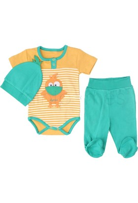 Minisse 3'lü Erkek Bebek Takım