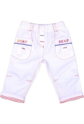 Bebepan Kız Bebek Beyaz Pantolon