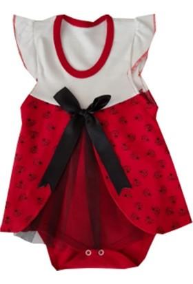Malkoç Kırmızı Çıt Çıtlı Zıbın Elbise