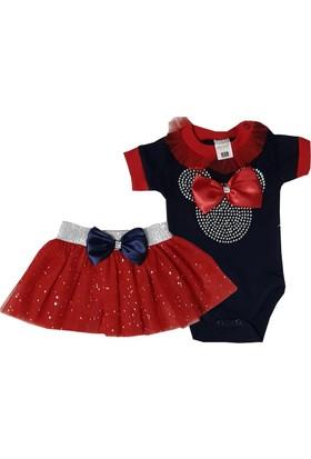 Jikko Kırmızı Tütü Etekli Kız Bebek Takım