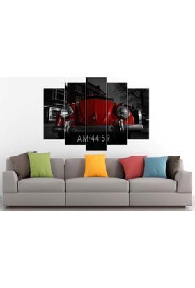 Sibiro Araba MDF Tablo Kırmızı Vosvos 70 x 100 cm Azyyn 93