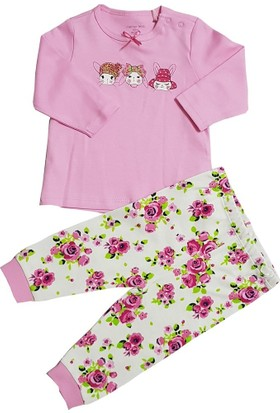 Motherlove Pembe Kız Bebek Pijama Takımı