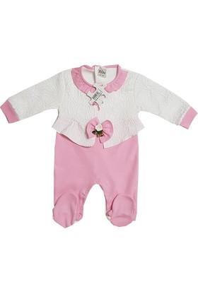 Jooy Pembe Fiyonklu Kız Bebek Tulum