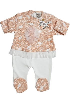Jooy Kız Bebek Gül Süslü Tulum