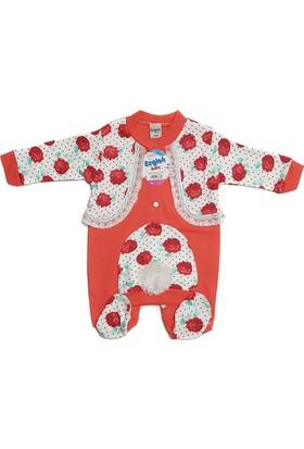 Ezgi Baby Nar Çiçeği Rengi 2'li Kız Bebek Tulum