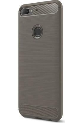 KNY HTC Desire 12 Plus Kılıf Ultra Korumalı Room Silikon + Cam Ekran Koruyucu