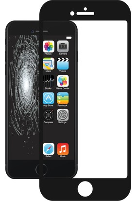 Justech By Corning iPhone 7/8 Plus 3D Cam Ekran Koruyucu Siyah