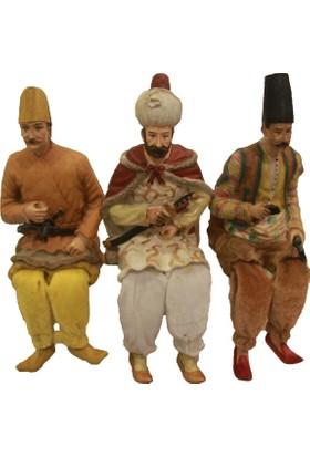 Kt Osmanlı Askerleri 3 Lü Oturan