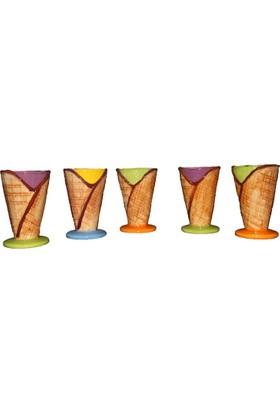 Kt Kornet Şekilli Renkli Dondurma Kasesi