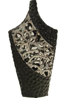 Cossa Vazo Siyah Gümüş