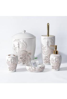 Dubai Dekoratif Taşlı Lüks Porselen Banyo Seti