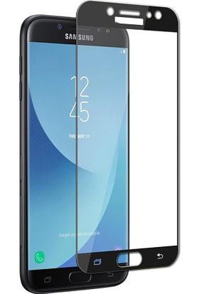 Kapakevi Samsung Galaxy J3 Pro 4D Nano Ekran Koruyucu Cam Kavisli Siyah