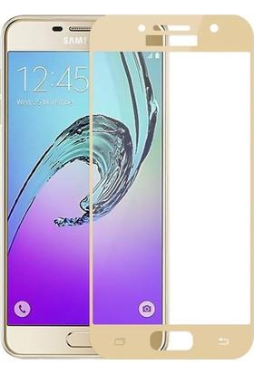 Kapakevi Samsung Galaxy A7 2017 4D Nano Ekran Koruyucu Cam Kavisli Gold