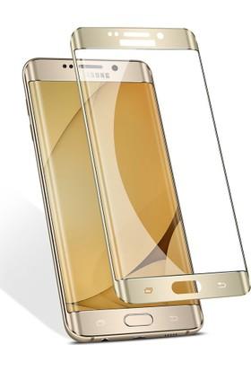 Kapakevi Samsung Galaxy S7 Edge 6D Nano Ekran Koruyucu Cam Kavisli Gold