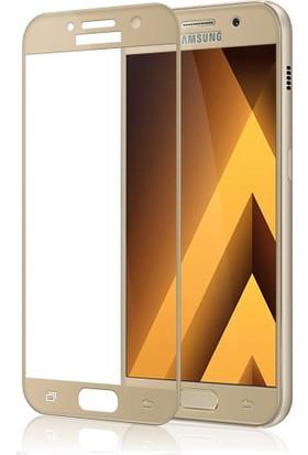 Kapakevi Samsung Galaxy A3 2017 4D Nano Ekran Koruyucu Cam Kavisli Gold