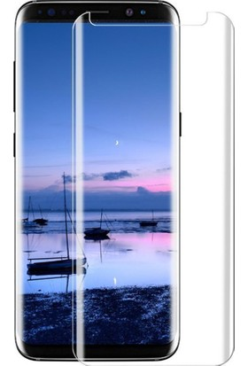 Kapakevi Samsung Galaxy S8 6D Nano Ekran Koruyucu Cam Kavisli Beyaz