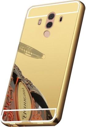 Kapakevi Huawei Mate 10 Pro Aynalı Metal Bumper Kılıf