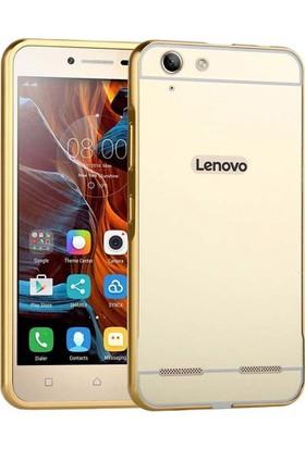 Kapakevi Lenovo K5 Aynalı Metal Bumper Kılıf