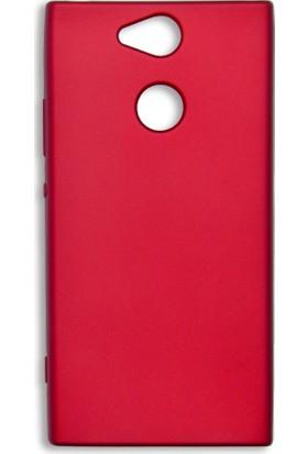 Kapakevi Sony Xperia XA2 Premium Slim Fit Silikon Kılıf Kırmızı