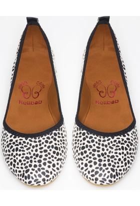 Rollbab Kadın Damla Desen Ayakkabı Set