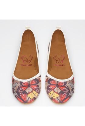 Rollbab Kadın Kelebek Desen Ayakkabı Set