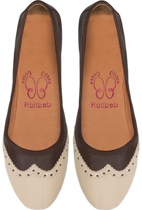 Rollbab Kadın Kahve Maskülen Ayakkabı Set