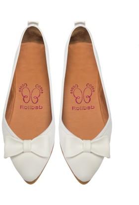 Rollbab Kadın Beyaz Ayakkabı Set