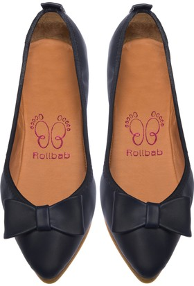 Rollbab Kadın Lacivert Ayakkabı Set