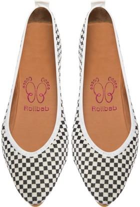 Rollbab Kadın Beyaz Mini Kare Dekolte Sivri Ayakkabı Set