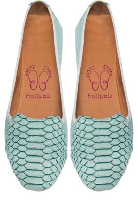 Rollbab Kadın Su Yeşili Dragon Diili Ayakkabı Set