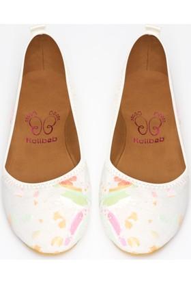 Rollbab Kadın Ebruli Ayakkabı Set
