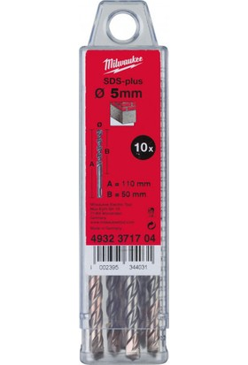 Milwaukee Sds-Plus Ms 2 Elmas Matkap Ucu (10'Lu Paket) 8X160Mm