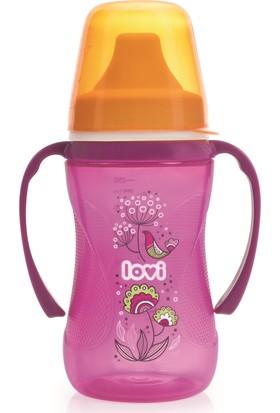 Lovi Folky Serisi Damlatmaz Alıştırma Bardağı Kız 12 Ay+ 250 ml
