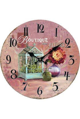 Hediye Mania Boutique Vintage Büyük Boy Duvar Saati 28cm