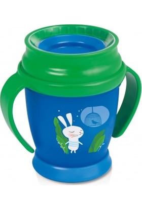 Lovi Follow The Rabbit 360 Derece Antibakteriyel Alıştırma Bardağı 9 Ay+ 210 ml