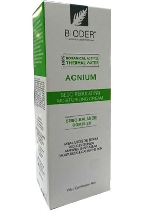 Bioder Acnium Sebum Dengeleyici Nemlendirici Krem 30ml
