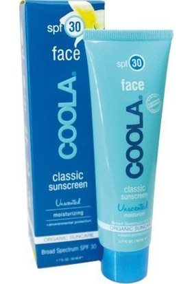 Coola Classic Face Spf30 Unscented 50ml