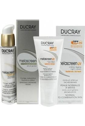 Ducray Melascreen Photo-Aging Global Serum 30ml | Melascreen Light Cream Spf50+ 40ml HEDİYE