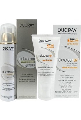 Ducray Melascreen Photo-Aging Night Cream 50ml   Melascreen Light Cream Spf50+ 40ml HEDİYE