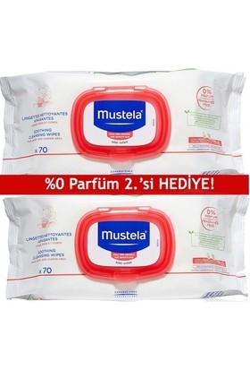 Mustela Soothing Cleansing Wipes 2x70 Adet   2.'si HEDİYE