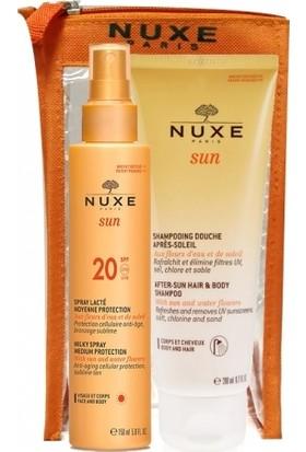 Nuxe Spf20 Sprey Güneş Sütü 150ml | Güneş Sonrası Şampuan 200ml HEDİYE