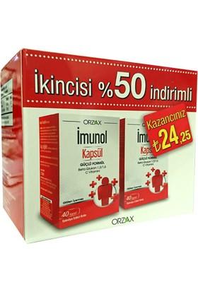 Orzax İmunol 40 Kapsül   İkincisi %50 İndirimli