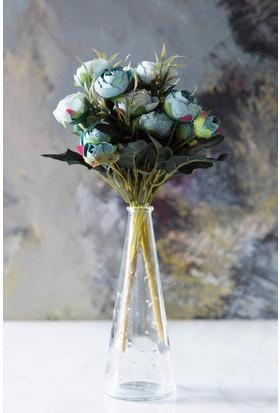 Arma House Mavi Dekoratif Yapay Şakayık Çiçek 9 Gül Demeti