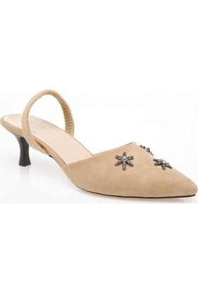 Defacto İşleme Detaylı Orta Boy Topuklu Ayakkabı