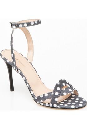 Defacto Puantiye Desenli Topuklu Ayakkabı