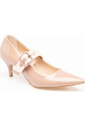 Defacto Toka Detaylı Parlak Topuklu Ayakkabı