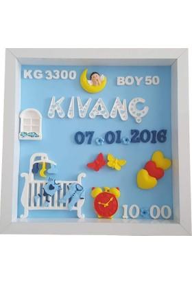 Kokulutastr Bebek Odası Pano Bebek İsimlik Model 003