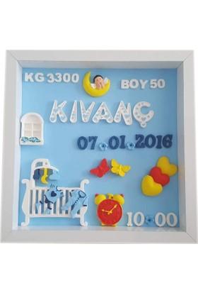 Kokulutastr Bebek Odası İsme Özel Pano Model 8003