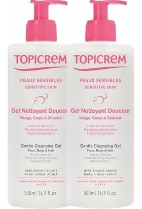 Topicrem Gentle Cleansing Gel Body&Hair 2x500ml | 1 Alana 1 Bedava